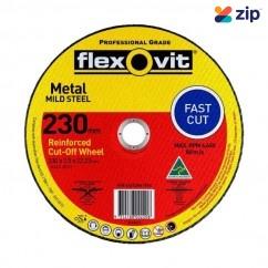 FLEXOVIT 66252841574 - 230 x 2.5 x 22.23mm FH38-A36S Metal Cut Off Disc 1023022