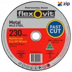FLEXOVIT 66252841576 - 230 x 2.5 x 25.4mm FH38-A36S Metal Cut Off Disc 1023025