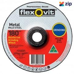 FLEXOVIT 66252841689 - 180 x 6.8 x 22.2mm A24 / 30T Metal Grinding Disc 6017868