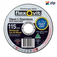 FLEXOVIT 66252919966 - 115 x 1.0 x 22.23mm Metal Cutting Wheel 15115010