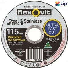 FLEXOVIT 66252841598 - 125 x 1.6 x 22.23 mm Metal Cutting Wheel 15127016