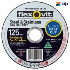 FLEXOVIT 66252919991 - 125 x 1.0 x 22.23mm Metal Cutting Wheel 15127010