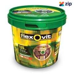 FLEXOVIT 66253371411 - 125 x 1.0 x 22.23mm 100-Pack Metal Cutting off Wheel 15127010PROMO Cutting Discs