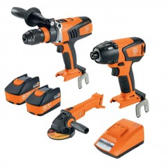 Fein 69908010728 - 18V 5.2Ah 3PC Cordless Brushless Drill-Driver/Impact-Wrench Kit Combo Kits 18v
