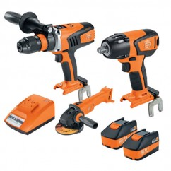Fein 69908010729 - 18V 5.2Ah 3PC Cordless Brushless Drill-Driver/Impact-Wrench Kit Combo Kits 18v