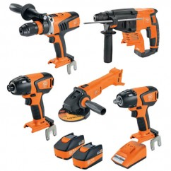 Fein 69908010740 - 18V 5.2Ah 5PC Cordless Brushless Drill-Driver/Impact-Wrench Kit Combo Kits 18v