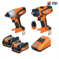 Fein 69908010741 - 12V 2.5Ah 2PC Cordless Brushless Drill- Driver/Impact-Wrench Kit Combo Kits up to 12v
