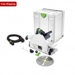 Festool TS 75 EBQ-Plus - 210mm Plunge Cut Circular Saw 561440 240V Circular Saws - Dustless