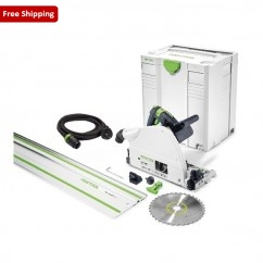 Festool TS75EBQ-PLUS-FS - 210mm Plunge Cut Circular Saw with 1400mm Rail 561512
