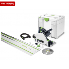 Festool TS 55 REBQ-PLUS FS - 160mm Plunge Circular Saw with Rail 561655
