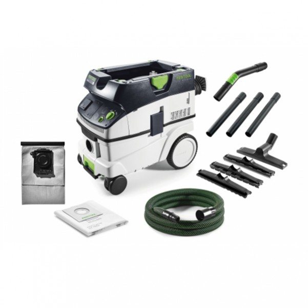 Festool CT 26 E-LLF FS - 1,200W Dust Class L CTL 26 HEPA Dust Extractor with Long Life Bag 574867 Dust Extraction & Vacuums
