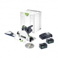 Festool TSC 55 REB Li 5.2Ah SCA8 charger - 160mm TSC55 Cordless Brushless Plunge Cut Saw Kit 575018