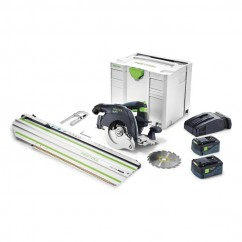 Festool HKC 55 EB Li 5.2Ah SCA8-Plus FSK 420 - 160mm Cordless Circular Saw with 420mm Cross Cut Rail 575463