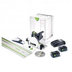 Festool TSC 55 REB Li 5.2Ah SCA8 FS – 160 mm Cordless Brushless Plunge Cut Saw c/w1400mm Guide Rail 575464 Circular Saws