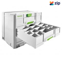 Festool SYS 4 TL-SORT/3 - Sortainer T-Loc 3 Drawer Storage Box Storage/Pelican Cases & Equipment