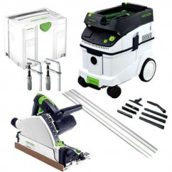 Festool TS55REBQMDF-Set - 160mm Plunge Cut Saw MDF & CT Set 574882 240V Circular Saws - Dustless