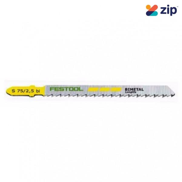 Festool S 75/2.5/5 - 5PK 75mm Fine Cuts Jigsaw Blade 204256 Festool Jigsaw Accessories