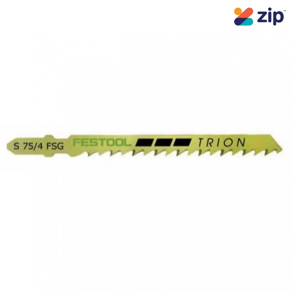 Festool S 75/4 FSG/5X - 5PK 75mm High Carbon Steel Jigsaw Blade 204316 Festool Jigsaw Accessories