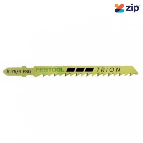 Festool S 75/4 FSG/20 -  20 Pack 75mm x 4mm Straight Cut Jigsaw Blade 204317