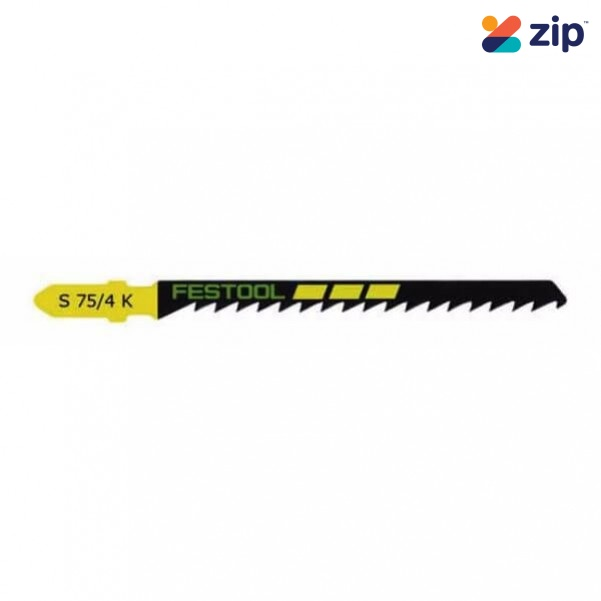 Festool S 75/4 K/5 - 5PK 75mm Curved Cuts Jigsaw Blade 204265 Festool Jigsaw Accessories