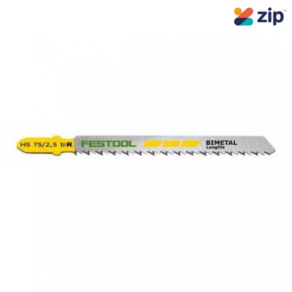 Festool S 75/2.5/ R/5 - 5PK 75mm Fine Cuts Jigsaw Blade 204259 Festool Jigsaw Accessories