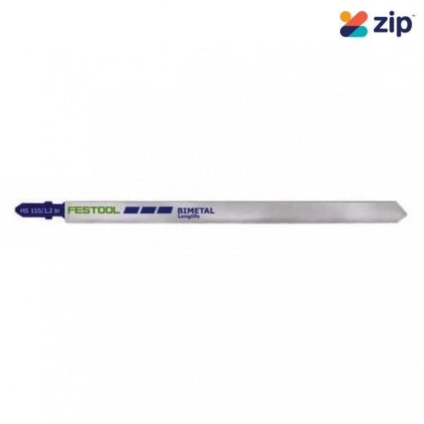 Festool HS 155/1.2 BI/5 - 5PK 155mm Bi-Metal Jigsaw Blade 204337 Festool Jigsaw Accessories
