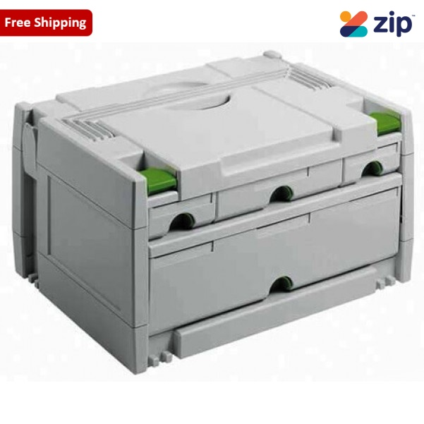 Festool SYS 3 SORT 4 - SORTAINER Traditional 4 Drawer Storage Box 491522