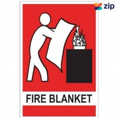 FlameStop SB - 225mm×150mm Small Fire Blanket Location Sign Others