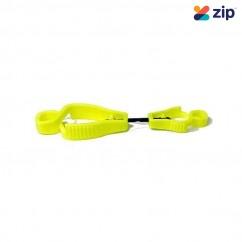 Force 360 GWORX700FY- Croc Grip Glove Clip Fluro Yellow