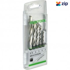 Festool BKS D 3-8 CE/W - CENTROTEC 3-8mm Wood Spiral Drill Bit Set 493648 Festool Accessories