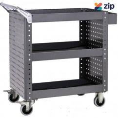 Geiger CTH5086 - 200kg 3 Shelves Heavy Duty Parts Trolley Tool Trolleys