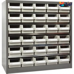 Geiger HD530 - 30 Drawer Steel Plate Parts Cabinet No Castors Shelving & Tool Hanging