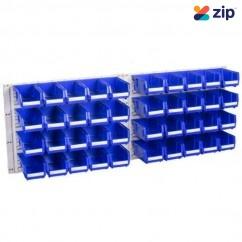 Geiger HP1KITB - Blue HB Hanging Panel 40 Bin Kit Shelving & Tool Hanging