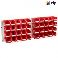 Geiger HP1KIT(R/B) - Hanging Panel (Set of 2) With 40 x HB210 Bins Workshop Shelving & Tool Hanging