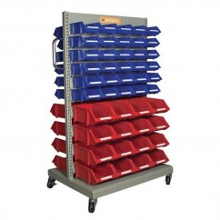 Geiger MS20020K - Double Sided Mobile Storage Cart Specialty Cases
