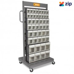 Geiger MSFO4568 - Mobile Tipout Sorting Cart Shelving & Tool Hanging