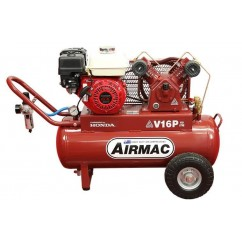 Glenco Airmac V16P-H -  60L 6.5hp Petrol Air Compressor Petrol & Diesel