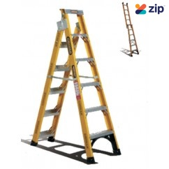 Gorilla Ladders FDM006-I Dual Purpose Ladder 1800mm 150kg Rated Fibreglass Step Extension Ladders