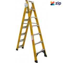 Gorilla Ladders FDM007-I Dual Purpose Ladder 2100mm 150kg Rated Fibreglass Step Extension Ladders