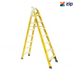 Gorilla Ladders FDM008-I - Dual Purpose Ladder 2400mm 150kg Rated Fibreglass Step Extension Ladders