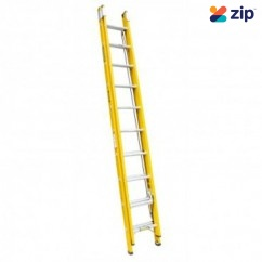 Gorilla Ladders FEL12/21-I Extension Ladder 3.7m/6.5m 130kg Rated Fibreglass Extension Ladders & Single Builders