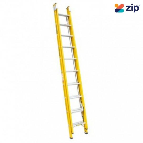 Gorilla Ladders FEL12/21-I Extension Ladder 3.7m/6.5m 130kg Rated Fibreglass Extension Ladders & Single Builders