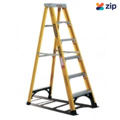 Gorilla Ladders FM006-I Single Sided Ladder 1800mm 150kg Rated Fibreglass Step Ladders