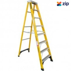Gorilla Ladders FM008-I - 2400mm 150kg Rated Fibreglass Single Sided Ladder Step Ladders