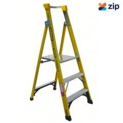 Gorilla Ladders FPL003-I Platform Ladder 900mm 150kg Rated Fibreglass Platform Ladders & Order Pickers