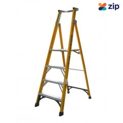 Gorilla Ladders FPL004-I Platform Ladder 1200mm 150kg Rated Fibreglass Platform Ladders & Order Pickers