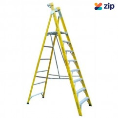 Gorilla Ladders FPL008-I Platform Ladder 2400mm 150kg Rated Fibreglass Platform Ladders & Order Pickers