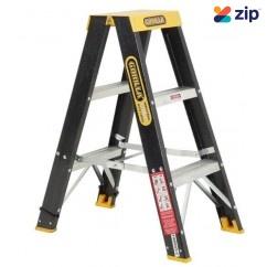 Gorilla Ladders FSM003-C - 0.9m 120Kg Industrial Fibreglass Double Sided Step Ladder