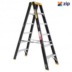 Gorilla Ladders FSM006-C - 1.8m 120Kg Industrial Fibreglass Double Sided Step Ladder