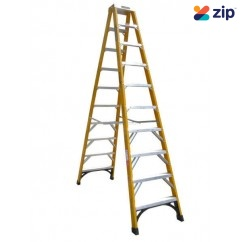 Gorilla Ladders FSM010-I Double Sided Ladder 3000mm 150kg Rated Fibreglass Step Ladders